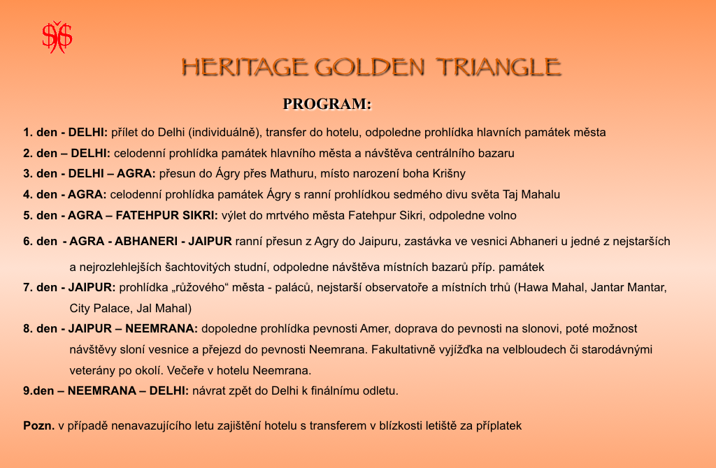 Heritage Golden Triangle Program