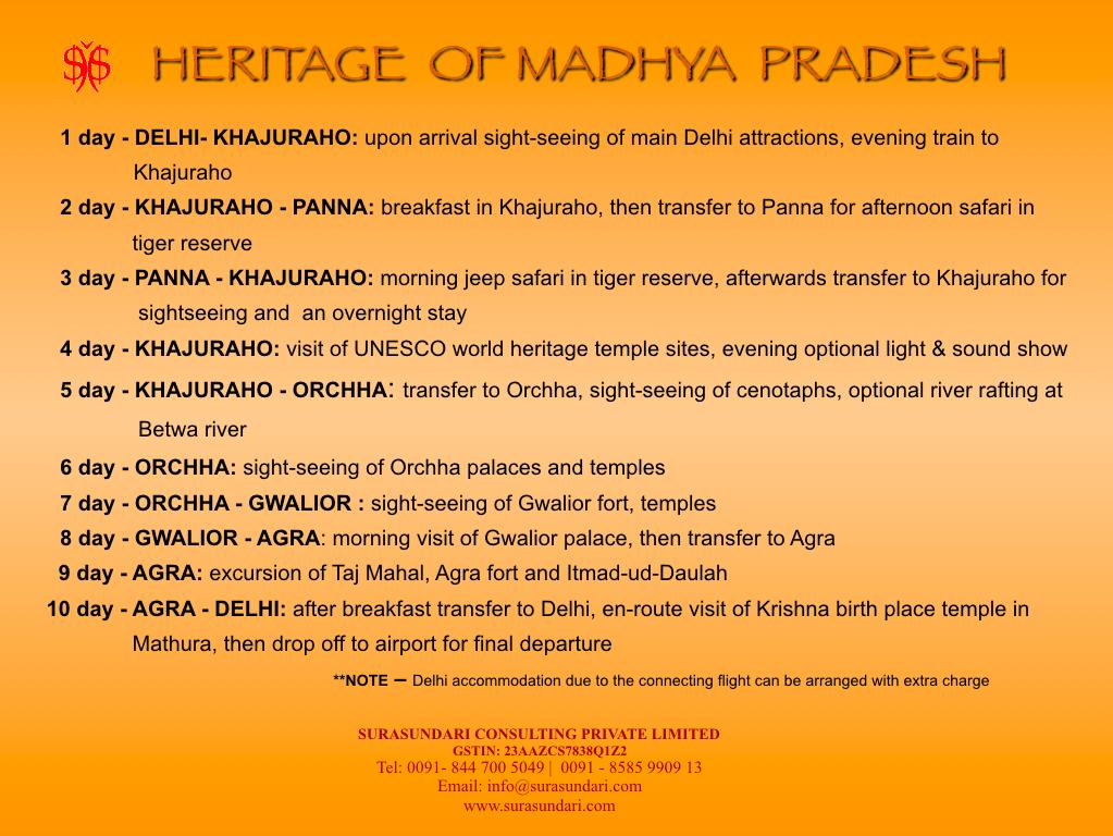 Heritage of Madhya Pradesh Program
