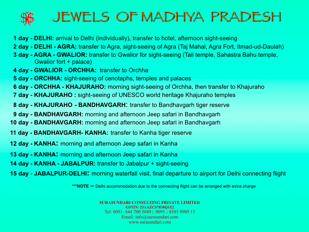 Jewels of Madhya Pradesh Program