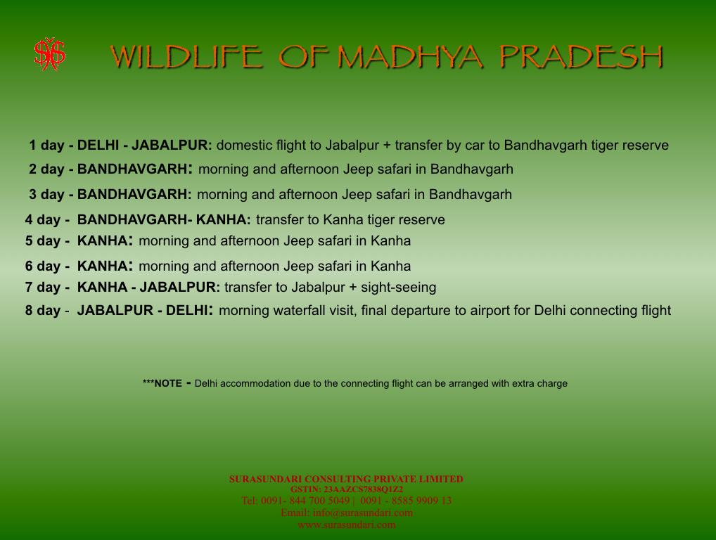 Wildlife of Madhya Pradesh Program